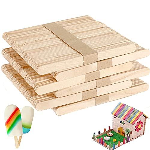 300 PCS (11.5*1cm)Stecchi Gelato Legno di a Mano,Stecco Legno Gelato,Bastoncini Ghiaccioli,Bastoncini Legno per Lavoretti,Bastoncini Art Lollipop del Mestiere di DIY