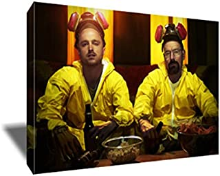Breaking Bad Walter White Jesse Cook Break Painting Poster Artwork on Canvas Art Print (20x30 inches)