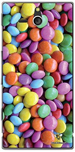 Buzzebizz Cover Posteriore per Sony Xperia U, Motivo: 'Caramelle'