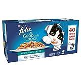 Felix As Good As It Looks - Alimento para gatos adultos en gelatina, 40 x 100 g