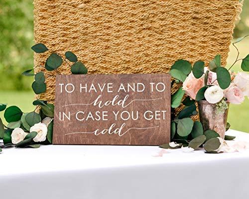 Ced454sy Gift to Have and to Hold in Case You Get Cold - Mantas para invitados de boda, chal de pashmina, recuerdo de boda, manta para cesta