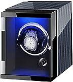 ZKLL Winder De Un Solo Reloj Que Calla La Batería De La Batería C.A. Caja Adaptador Caja De Almacenamiento De Lujo De Madera Regalo De Lujo