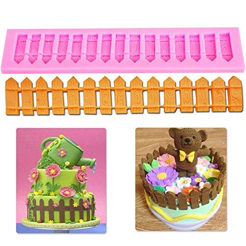 3D Picket Fence Silicone Fondant Cake Decoration Mold Sugarcraft Baking Mould