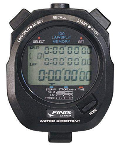 Finis Stopwatch, Cronometro Digitale Multifunzione Unisex – Adulto, Nero, Taglia Unica