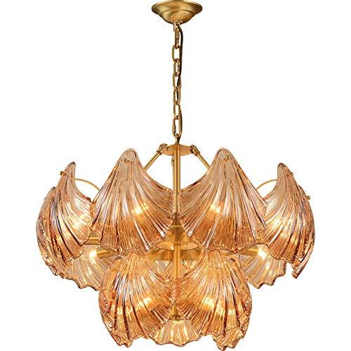 Lámpara de techo simple para salón, dormitorio, comedor, lámpara de cristal