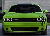 Claw Marks Headlight Decal Available in Twelve Colors!. Genuine ViaVinyl Brand Vinyl Sticker / Decal for Sports Cars (Black)