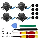 Maiweitong 4-Pack Replacement Joystick Analog Thumb Stick Compatible with Switch/Switch Lite Joy-Con...