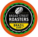 Broad Street Roasters Single Origin Coffee, Brazil, Compatible with 2.0 K-Cup Brewers, 100 Count