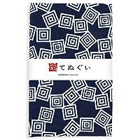 彩(irodori) 小紋手ぬぐい 三枡 ほつれ防止加工なし 33×90cm