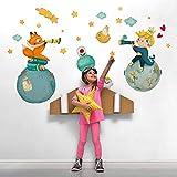 R00570 Pegatina Vinilo Pared Suave Efecto Tejido Decoración Niño Bebé Habitación Infantil Guardería Papel Pintado Autoadhesivo Principito