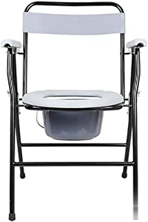 Renxiarx Stacking Commode Chair,Adjustable Commode Chair,Folding Lightweight Commode Chair with top Loading Easily Removable Pot