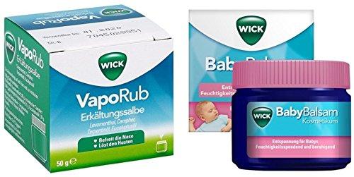 Wick Eltern-Baby-Set (Erkältungssalbe plus Babybalsam)