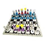 Juego de ajedrez de Madera, Juego de Tablero de ajedrez, Juego de Damas de ajedrez de Madera Plegable, Tablero Internacional portátil, Caja de Viaje de ajedrez, Juguete Educativo para niños y Adultos