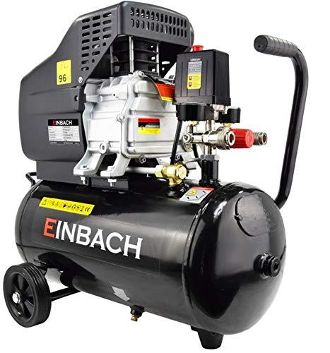 Compresor de aire de Einbach, 2,8 kW, con compresor de aceite de 24 l, caldera de 230 V, válvula de seguridad, 2 acoplamientos rápidos