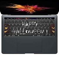 igsticker MacBook PRO 15inch 2016 ~ 専用 キーボード用スキンシール キートップ ステッカー A1990 A1707 Apple マックブック エア ノートパソコン アクセサリー 保護 013394 かぼちゃ ハロウィン 黒