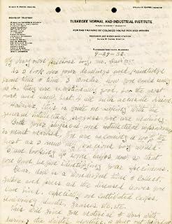 George Washington Carver - Autograph Letter Double Signed 09/29/1932