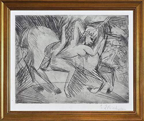 Berkin Arts Ernst Ludwig Kirchner Classico Marco Giclee Imprimir en Lienzo-Pinturas Famosas...