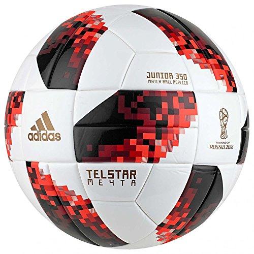 adidas World Cup Knock out J350Fútbol, otoño/Invierno, Color White/Solar Red/Black, tamaño 5