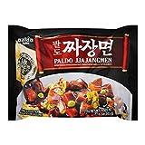 Paldo Fun & Yum Jjajangmen Instant Noodles, Pack of 4, Brothless Chajang Ramen with Savory & Sweet...
