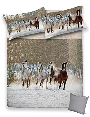 Tex family Copripiumino Serie DIGITY in Cotone Cavallo Cavalli - Matrimoniale 2 PIAZZE CM. 250X200