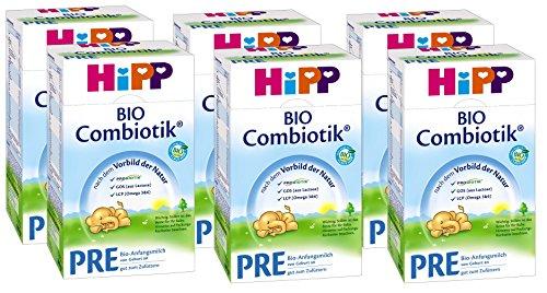 Hipp Bio Combiotik Pre - von Geburt an, 6er Pack (6 x 600g)