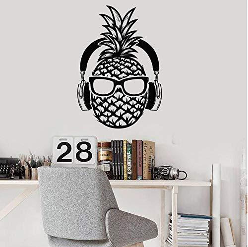 MUXIAND Muur PVC, Ananas koptelefoon zonnebril 57x82cm Home Decors Muurstickers Quote Decal Keuken Kamer Deur DIY PVC Family Sticker Gift Transfers Accessoires Festival Verjaardag