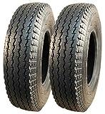 2 neumáticos de remolque 4.80/4.00-8, S-6003, 6 PR, TL tubeless, 71 M, carga de 340 kg por rueda,...