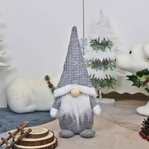 Christmas Decoration, Doll Window Decoration Decoration Doll Christmas Tree Decoration Figure Xmas Decoration Father Christmas Decoration Ornament Xmas Decoration (White)