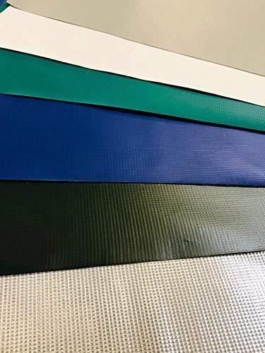 Abdeckplane 400g/m², PVC Plane, Schutzplane, 100 % wasserdicht, hohe UV Beständigkeit, reißfest, witterungsbeständig (Schwarz / Blau, 1,60 m x 15,00 m)