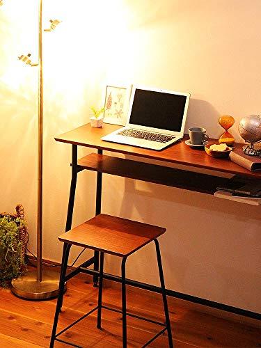 快適ホームズウォールナット天然木カウンターテーブルブラウンバーテーブルハイテーブルカウンター木製01-001