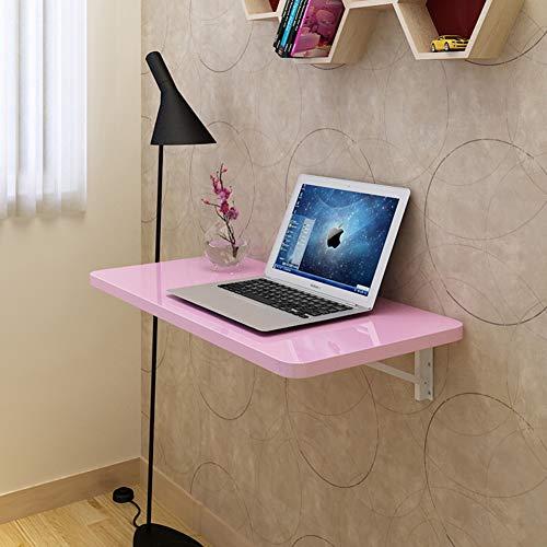G.B.H. Mesa abatible montada en la Pared Mesa Plegable Mesa de Comedor/Escritorio para ninos/Escritorio para computadora portatil pequena (Tablero de Pintura Rosa, 11 tamanos)