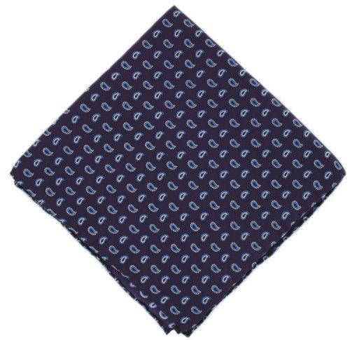 Michelsons of London Mouchoir violet Petit pin soie de