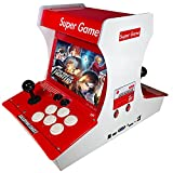 PANYIHAN 【8000 Games in 1】 Arcade Game Console Classic Retro Upright Game Machine for 2-4 Player Desktop Arcade Machine , 1280PX720 HD Resolution Monitor,PSP 3D Games (Red)