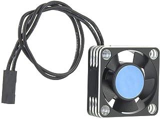 Dgtrhted Motor de Metal 504 ESC Ventilador del disipador de Calor RC Coche Accesorio Actualiza Piezas de Plata (Negro)
