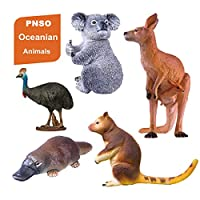 PNSO 5個 セット大洋州 オセアニア オーストラリア コアラ コモリグマ レッドカンガルー 動物 リアル フィギュア プラモデル おもちゃ 模型 こども 孫への誕生日 プレゼント プレミアム 25cm級 オリジナル 塗装済