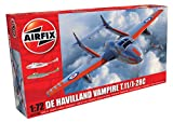 Airfix-1/72 De Havilland Vampire T.11/J-28C Model, Color Gris (Hornby Hobbies LTD A02058A)