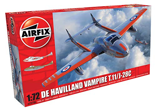 エアフィックス 1/72 イギリス空軍 デ・ハビランド ヴァンパイア T.11/J-28C 戦闘機 プラモデル X-2058A