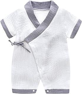 66057dc491013 Bébé Kimono Barboteuse Coton Infant Manches courtes Body Pyjama Mignon  Japonais Enfants Outfit Garçons et Filles