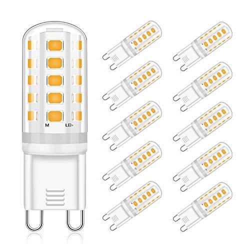 G9 LED Lampen Warmweiß 5W, Ersatz 40W Halogenlampen 420LM, 3000K G9 LED Leuchtmittel Birnen, Kein Flackern, Nicht Dimmbar, RA83, AC 220-240V 10er PackEco.Luma