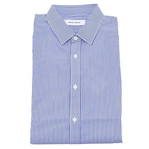 MAURO GRIFONI 4775Y Camicia uomo White/Blue Cotton Shirt Man [41 (16)]