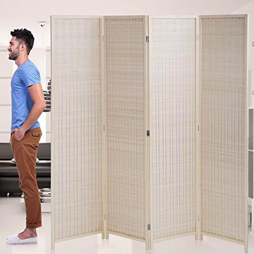 Room-Divider-Privacy-Screen-Folding-4-Panel-72-Inches-High-Portable-Room-Seperating-Divider-Handwork-Bamboo-Mesh-Woven-Design-Room-Divider-Wall-Room-Partitions-and-Dividers-Freestanding-Black
