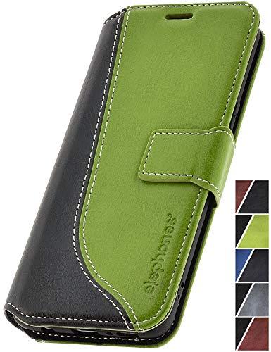 elephones® Handyhülle für Samsung Galaxy S9 Hülle - Kompatibel mit Galaxy S9 Schutzhülle Handy-Tasche Flip Case Cover Grün (CTS9GREN1)