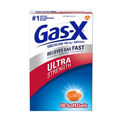 Gas-X Ultra Strength Softgel for Fast Gas Relief, 18 count