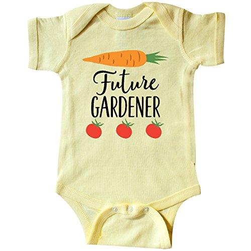 inktastic Gardening Future Gardener Infant Creeper Newborn Banana Yellow
