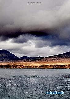 notebook: a4 cute lined journal | hill mountain scotland jura island water europe