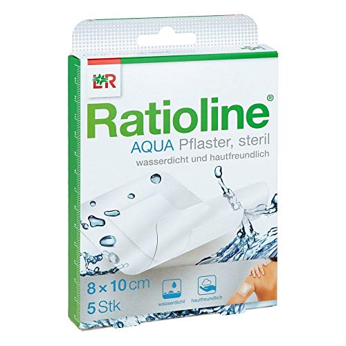 Ratioline Aqua Pflaster steril 8 x 10 cm, 5 St. Pflaster