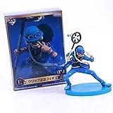 Anime OP 20th Anniversary Usopp Blue Jacket PVC Figura de acción Sombrero de Paja Crew 2D3Y OP Model...