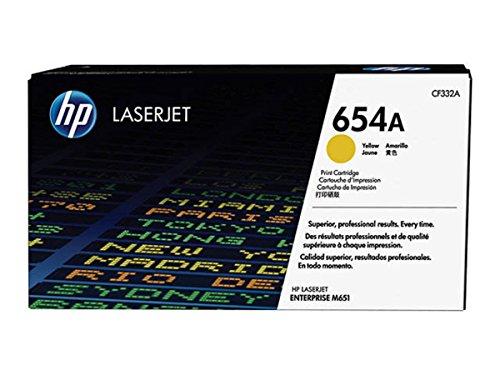 HP Original–HP–Hewlett Packard Color LaserJet Enterprise M 651DN (654a/CF 332A)–Tóner amarillo–15.000páginas