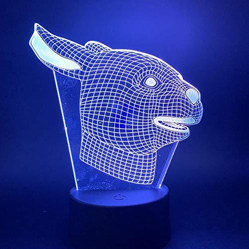 Regalos para niños LED Luz nocturna conejo animal luz para niños regalo de cumpleaños luz nocturna para niños dormitorio conejo hermoso decoración 3D lámpara alta