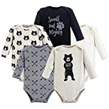 Yoga Sprout Unisex Baby Cotton Bodysuits, Bear Hugs Long-Sleeve, 0-3 Months
